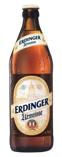 Cerveja Erdinger Urweisse, estilo German Weizen, produzida por Erdinger Weissbräu, Alemanha. 5.2% ABV de álcool.