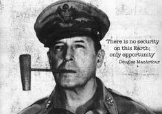 Douglas MacArthur quote poster