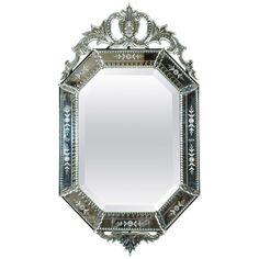 Venetian Mirror | From a unique collection of antique and modern wall mirrors at http://www.1stdibs.com/furniture/mirrors/wall-mirrors/