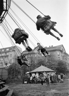 Photograph by Paul Schutzer. East Berlin, Germany, 1961.This was my favorite thing to do with my Opa ,I carusel and he pay for the fare