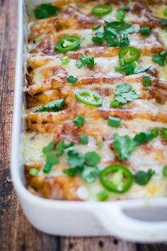 Chicken Enchiladas in Colorado Sauce - comfort food at its finest!