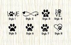 ¡Todos amamos a nuestras mascotas! ¡Muestre su amor para su familia peludo con cualquiera de estas etiquetas impresionantes! Cualquiera de estas etiquetas se vería muy bien en su ventana trasera, armario de trabajo/escuela, ordenador, libretas, espejos, etcetera. Ellos no están