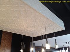 Grill'd, Shafto Lane Selected lattice Pressed Metal For Their Feature Ceiling Ceiling, Pressed Metal, Metal, Kitchen Images, Metal Decor, Kitchen Bar Design, Creative Kitchen Ideas, Lattice Design, Metal Design