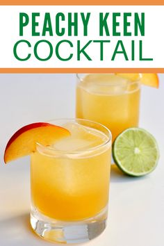 Need a delicious cocktail recipe to add to your collection?  The Peachy Keen is a complex, yet refreshing cocktail with the peach jam bringing out the sweetness in the bourbon and the aged tequila adding some nice earthy complexity. Cheers! #peachykeencocktail #cocktailrecipe Refreshing Cocktails, Easy Cocktails, Summer Cocktails, Cocktail Recipes, Fun Drinks, Easy Drink Recipes, Drinks Alcohol Recipes, Vegan Recipes Easy, Fireball Recipes