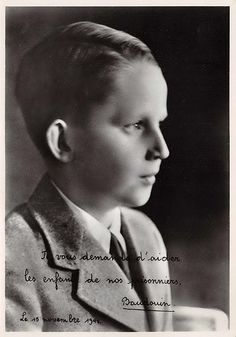 Prince Baudoin (1930-1993) futur roi de Belgique