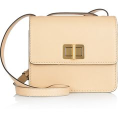 Chloé Louise leather shoulder bag found on Polyvore.   $2,195 - net-a-porter.com.   Eggshell leather (Calf) Buckle-fastening shoulder strap, top handle. Two internal compartments, snap-fastening pocket and zip-fastening pocket. Turn lock-fastening front flap. Sharp and out of my league (price wise).