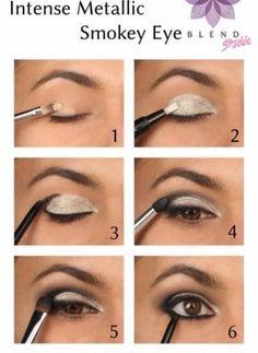 Intense Metallic Smokey Eyes!!! #Beauty #Trusper #Tip