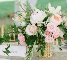 Featured Photographer: Theresa Choi; Wedding reception centerpiece idea.
