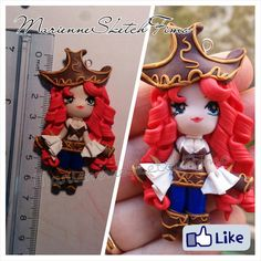 Handmade Pendant Miss Fortune League of Legends Chibi Version ON DEMAND
