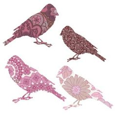 Inke Heiland Birds Stickers; to make your kidsroom fabulous