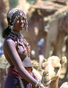 Africa |  A young Afar woman at the Market. Ethiopia | © Roger Blum