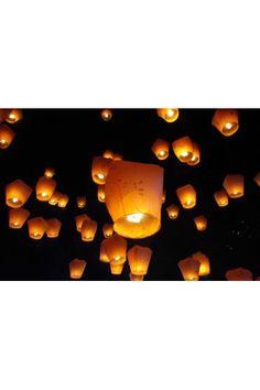 Lanterne Volantes Coeur Blanc - Déco Extérieur - Mariage Cérémonie-Anniversaire Nouvel An Noel