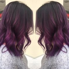 if i do purple dye it would be like this except only a few whole strands would be purple not the entire middle section