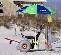Beach Wheelchairs using Wheeleez Low-Pressure Balloon Wheels