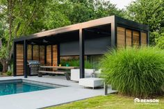 Invest in a contemporary garden room for extra living space – outdoors. With all mod cons, they are an easy and versatile way to extend your home. Here are just a few of our favourite design ideas Outdoor Pergola, Backyard Pergola, Outdoor Decor, Pergola Ideas, Small Pergola, Garden Gazebo, Small Patio, Outdoor Living Rooms, Outdoor Spaces