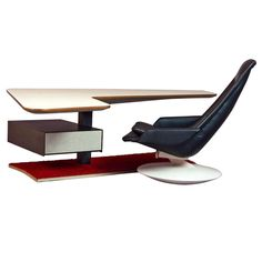 Boomerang Desk & Gemini Chair | From a unique collection of antique and modern desks and writing tables at http://www.1stdibs.com/furniture/tables/desks-writing-tables/