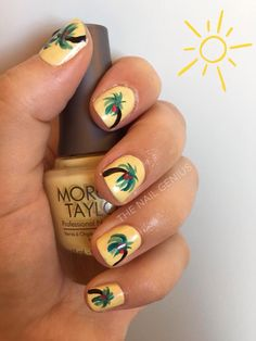 #nails #nailart #beach #beachtheme #handpainted #morgantaylorpolish #polish #thenailgenius