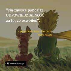 Na zawsze... #Saint-Exupery-Antoine-De,  #Miłość, #Przyjaźń Poetry Quotes, Book Quotes, Life Quotes, Life Slogans, Great Ab Workouts, Weekend Humor, Northwestern University, Animal Jokes, The Little Prince