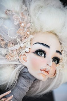 Галина Дмитрук Ooak Dolls, Plush Dolls, Blythe Dolls, Pretty Dolls, Beautiful Dolls, Paper Mache Sculpture, Sculptures, Doll Face Paint, Art Antique