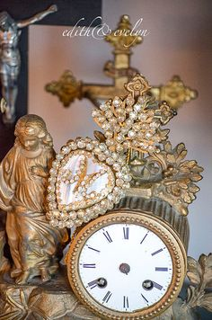 Beautiful Ex Voto Sacred Heart Hinged Opens to by edithandevelyn