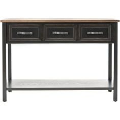 Jacque Console Table In Black And Walnut