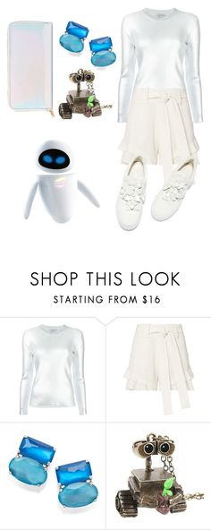 """""""EVE"""" by vintage2modern ❤ liked on Polyvore featuring Carven, 10 Crosby Derek Lam, Ippolita, Disney, Charlotte Russe, disney, pixar, wall, eve and walle"""