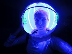 Use Glow Necklaces for a super cool space helmet! http://glowproducts.com/glownecklaces/ #glowsticks
