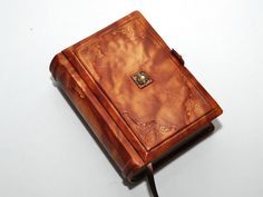 Small brown leather journal vintage style 4x5.7 by dragosh on Etsy