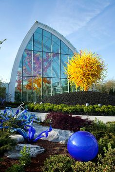 Chihuly Glass Museum & Garden in Seattle under the Space Needle.  Love how his glass is merged into the garden.