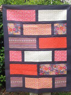 Modern Patchwork Lap Quilt by KrasoskisKrafts on Etsy