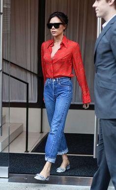 Victoria Beckham te hará querer usar unos zapatos con glitter