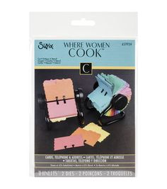 Sizzix Where Women Cook Telephone & Address Cards Thinlits Dies