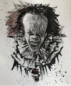 Pennywise The Dancing Clown, Monsters, Horror, Lion Sculpture, Nerd, Statue, Halloween, Drawings, It The Clown