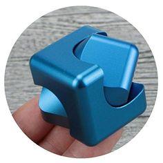 Kingko® New Fidget Cube Hand Spinner Tri-Fidget Plastic Finger Hand EDC Desk Focus Creative Birthday Gift Old People Kids Toy (B)...