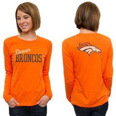 Denver Broncos Women's Game Day Orange Long Sleeve T-Shirt