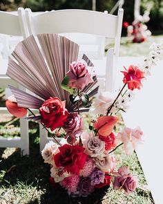 Stunning colourful florals to start the wedding aisle for Lina's wedding at Werribee Mansion Beautiful Flower Arrangements, Wedding Flower Arrangements, Flower Centerpieces, Floral Arrangements, Beautiful Flowers, Wedding Flowers, Gold Wedding, Wedding Bride, Aisle Flowers
