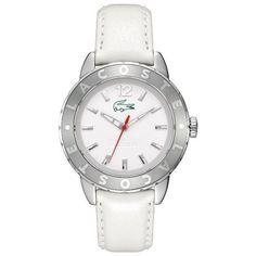 Montre Femme Lacoste 2000667 - Bracelet en cuir blanc.