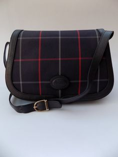 BURBERRY Dark Blue   Navy Check Shoulder Bag. Burberrys British designer  purse. 4ae0bf457731a