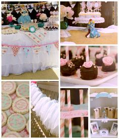 7 Tips for Throwing a Shabby Chic Cinderella Party! #cinderella #shabbychic