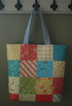 Amanda Jean from Crazy Mom Quilts shares a tutorial on Moda Bake Shop, showing how to use charm squares to make a tote bag.  Get the how-to. [tags]sewing, tutorial, charm, square, tote, bag[/tags]