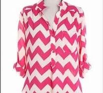 Popular #Chevron #print tunic in pink and white. One of our #Spring Essentials! #boutique #shoponline #springfashions