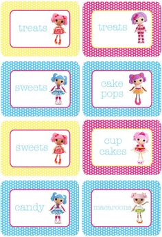 Lalaloopsy Candy Bar Labels by PolkaDotDazeParty on Etsy, $3.00