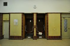 Closed off Paternoster Elevators in the Rathaus Schöneberg, Berlin, Germany