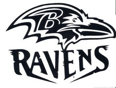 Baltimore Ravens Logo Outline Vector Fully Layered Vector