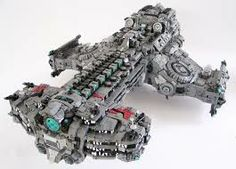 huge lego battle ship
