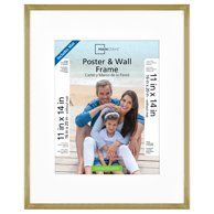 Mainstays 18x24 Brass Metallic Poster And Picture Frame Walmart Com Picture Frame Sizes Gold Picture Frames Mainstays