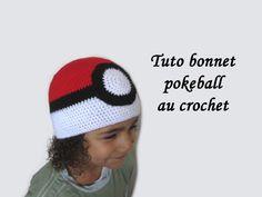 31842d1f4ed6 tuto bonnet pokeball,bonnet pokeball crochet, tuto bonnet pokemon crochet,  pokeball crochet, pokemon crochet, pikachu crochet, salameche crochet, ...