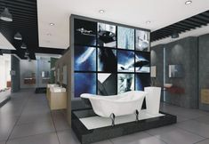 All About Ideas: Eclectic Style Bathtub Sanitaryware Showrooms Modern Bathroom Furniture, Best Sanitary System, Best Sanitary System Design, Tile Showroom, Showroom Design, Interior Design, Interior Paint, Showroom Ideas, Lighting Showroom, Exhibit Design, Modern Interior, Contemporary Toilets