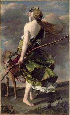 Orazio Gentileschi (Italie, 1563-1639) – Diane Chasseresse, Musée des Beaux-Arts de Nantes