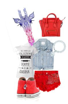 Red Jeans by giubagnols on Polyvore featuring polyvore, fashion, style, TeeTrend, Talula, Converse, Tiffany & Co., Kess InHouse and clothing